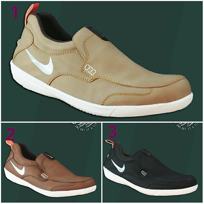 Sepatu Pria Nike Boston Slop Formal Kerja Casual Santai GRATIS 1KAOS KAKI
