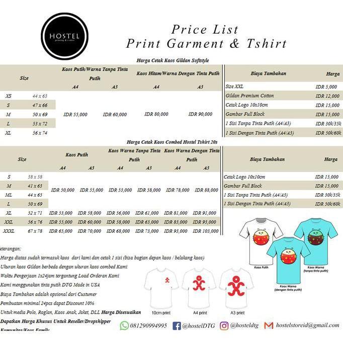 Kaos Gildan Custom Sablon Dtg A3 Satuan Desain Bebas Kaos Gelap - Sale Promo!!
