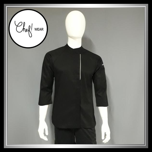 Chef Wear Baju Koki Hitam Komb Net S-XL (Bis Abu)