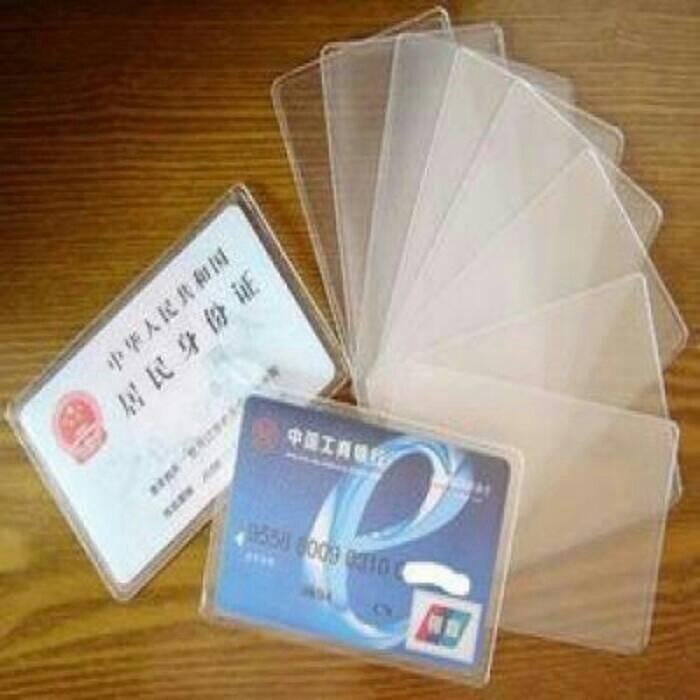 Anabelle Plastik pelindung ATM SIM KTP Kartu Nama Cover pelindung 1 Set Isi 10 Pcs