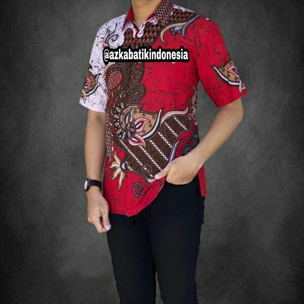Jual Baju Batik Pria Baju Batik Modern Kemeja Batik Pekalongan Hem Batik Kemeja Motif JAGAD -