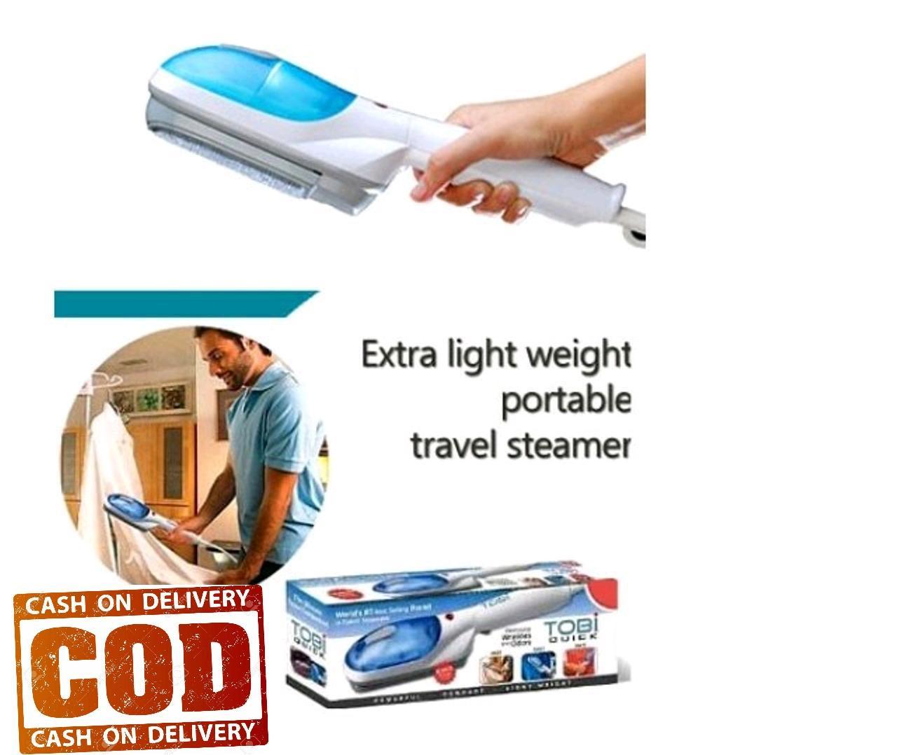 Setrika Gosokan Uap Travel Genggam Steam Wand Hand Ironing dengan Spray Air Seperti di TV Biru