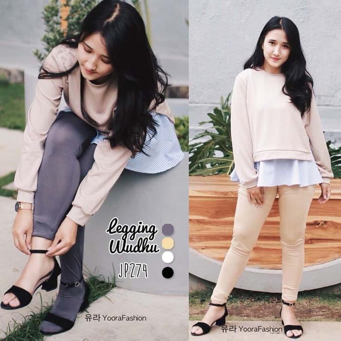 Legging Wudhu Premium Yoorafashion Multifungsi Stocking JP274 - Fashion Wanita Terlaris - Aksesoris Wanita - celana Wanita Murah - Best Seller - Fashion Wanita Kece