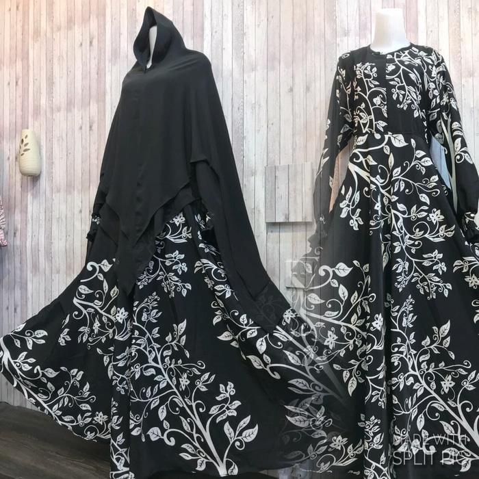 Adzra Gamis Murah syari/busana muslim wanita - Rafanda Dress - Hitam