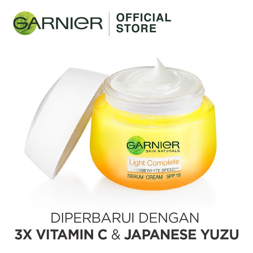 Fitur Garnier Light Complete White Speed Serum Cream Spf 19 Pa Krim Super Foam 10 100ml Detail Gambar 50 Ml Terbaru