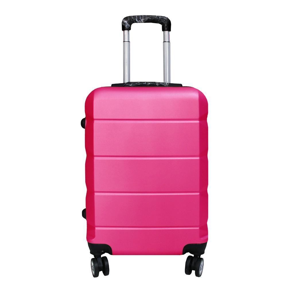 Polo Expley Koper Fiber Hardcase Luggage 20 Inchi 802-20 HotPink Waterproof