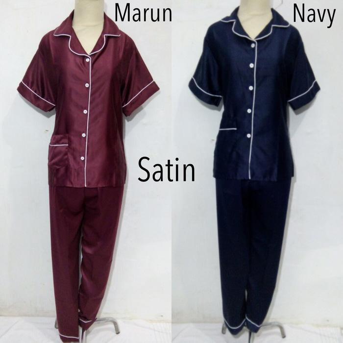 piyama baju tidur dewasa wanita satin / Baju tidur/ piyama / kimono / Baju tidur murah / piyama murah / kimono / baju tidur cantik / piyama polos / baju tidur jumbo / piyama jumbo