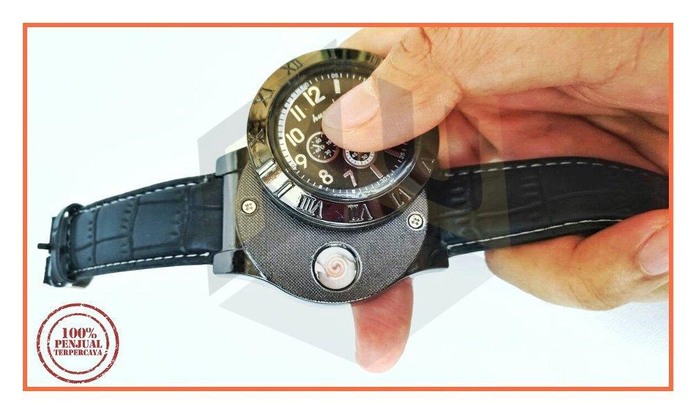 Jam Tangan Korek Api USB Multifungsi Lighter Watch
