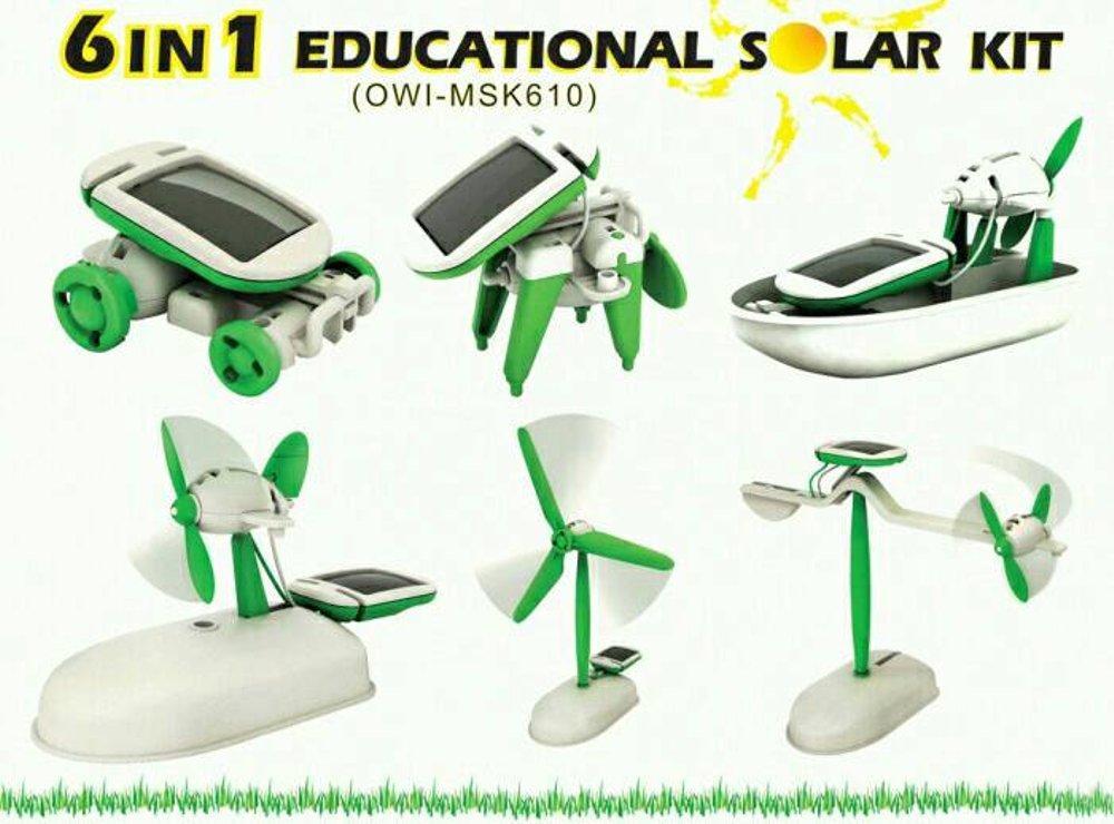 ROBOT SOLAR 6 IN 1/ EDUKASI MERAKIT ROBOT/ KITS ROBOT SOLAR