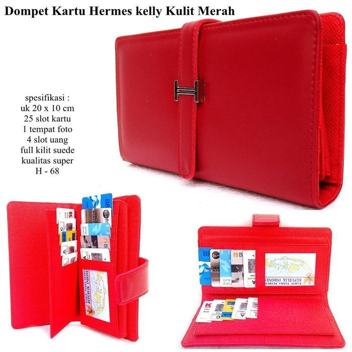 DOMPET WANITA HERMES KELLY CARD 25 KARTU KW SUPER MURAH MERAH - wp6VWg