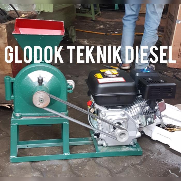 Mesin Giling Tepung FFC 15 + Mesin Bensin GX 160 5,5 HP Gilingan