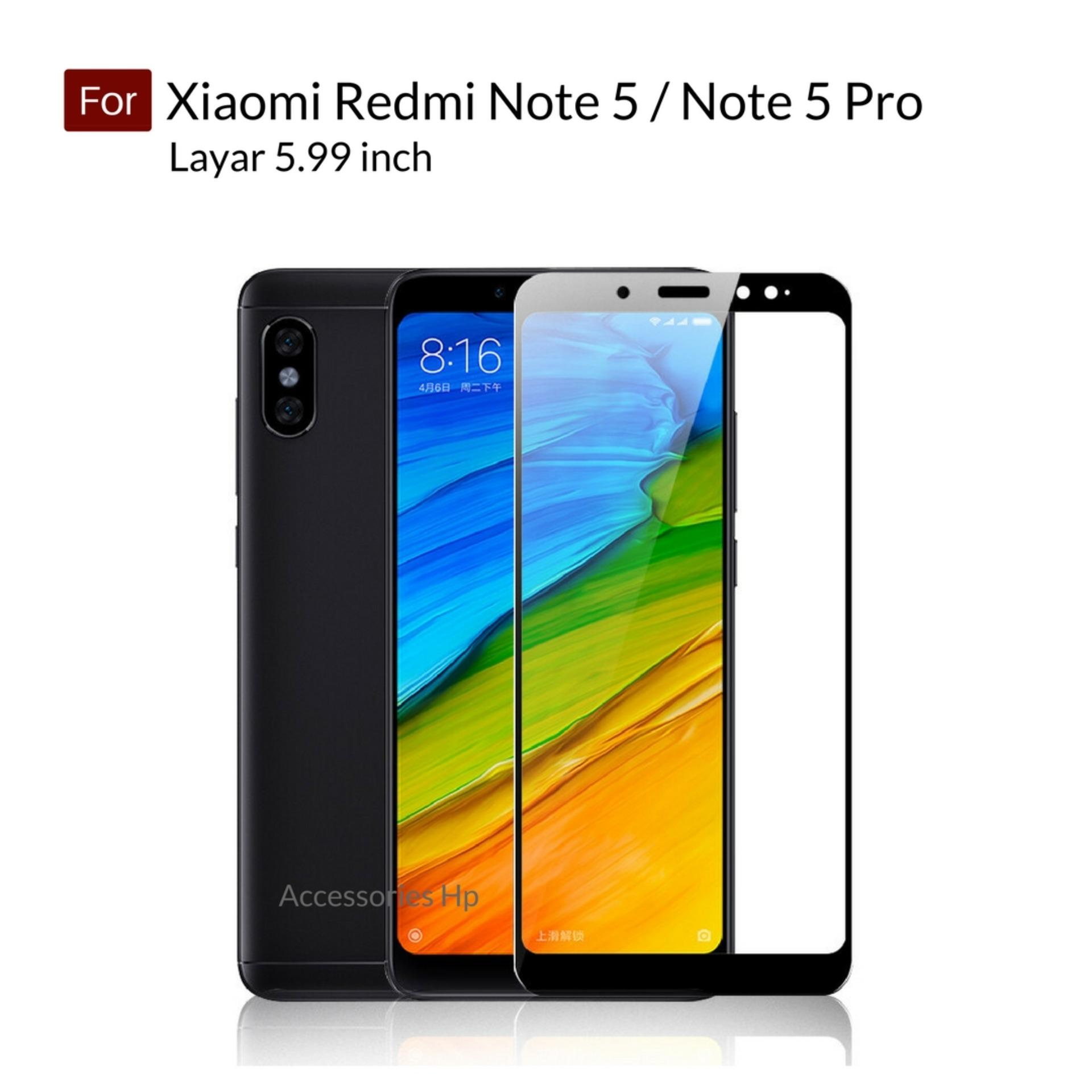 Accessories Hp Full Cover Tempered Glass Warna Screen Protector for Xiaomi Redmi Note 5 / Note