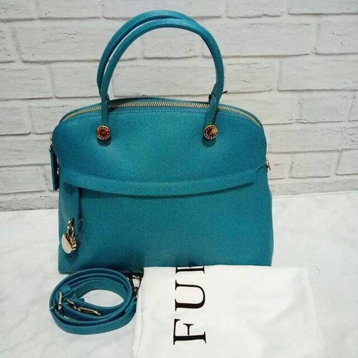 Furla Medium Turquoise NWT. Tas Branded Original