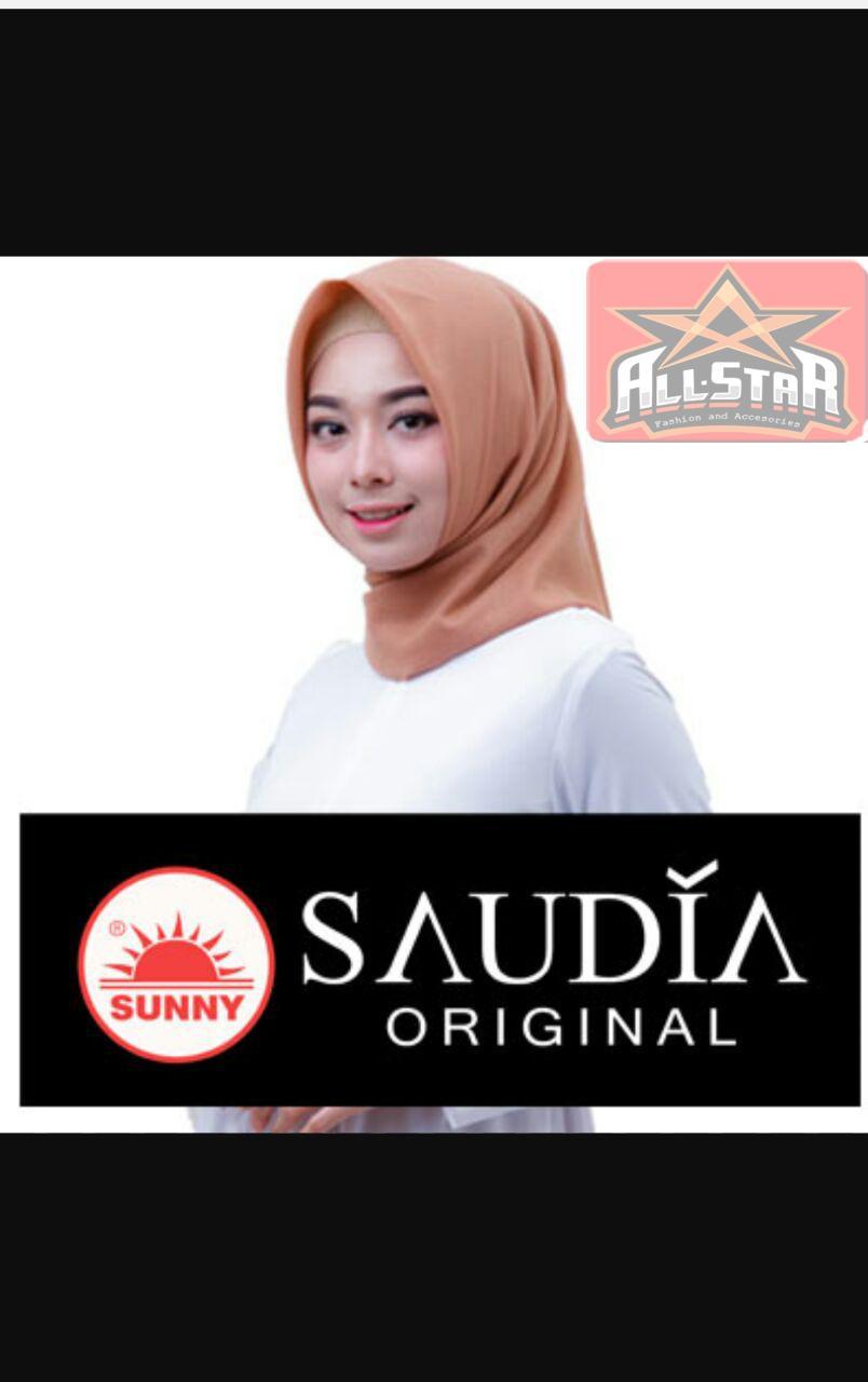 Hijab Segi Empat Saudia By Sunny Original Motif Polos ( BUKAN YANG KW )