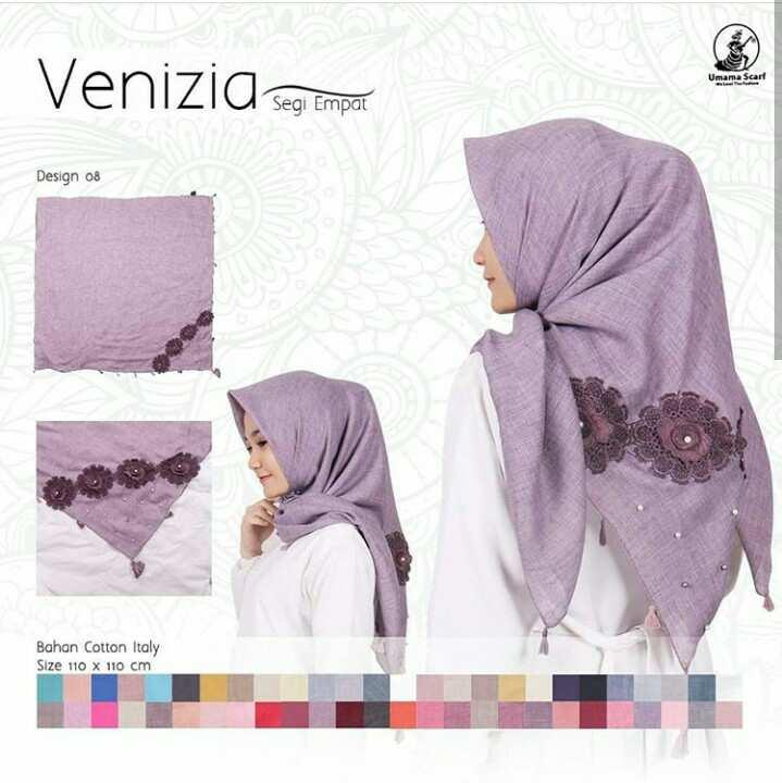 Hijab Segi Empat Motif / Jilbab Segi Empat Motif / Kerudung Segi Empat Motif /Hijab Segi Empat/ segi empat polos venizia