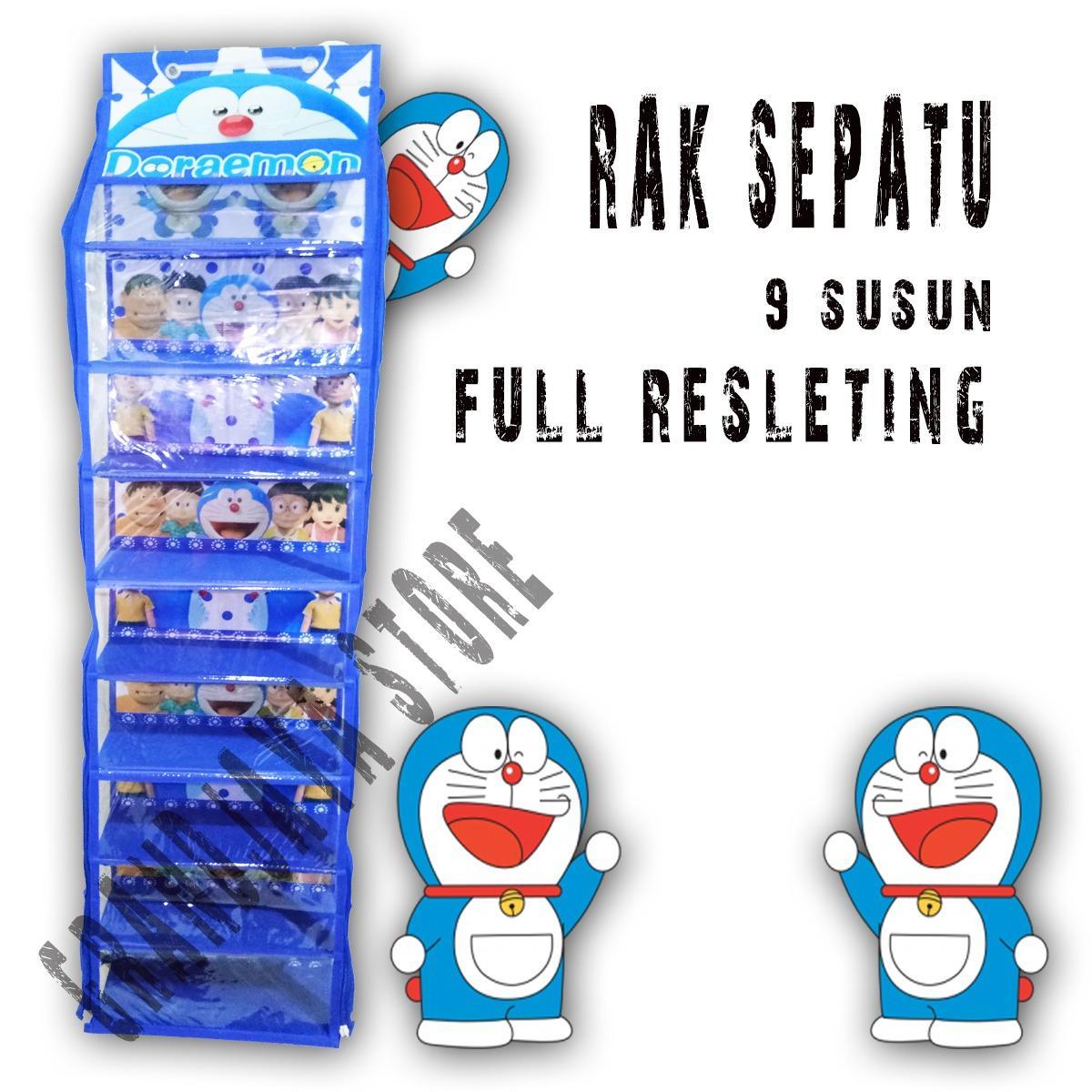 Rak sepatu gantung sleting / hanging shoes organizer (HSO) / hanger sepatu