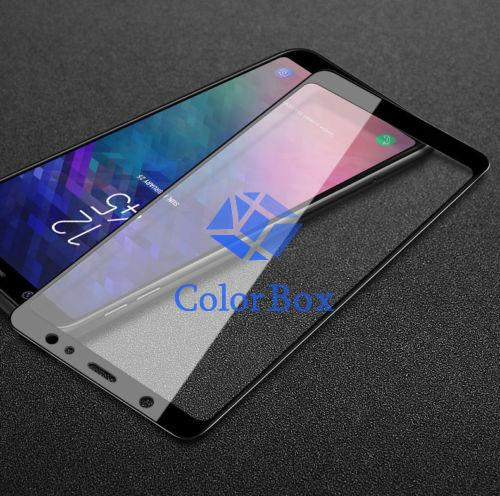 MR Screen Protector Tempered Glass Clear 9H Samsung Galaxy A6 2018 Full Screen / Temper Glass Samsung A6 2018 / Pelindung Layar Samsung A6 2018 / Anti Gores Kaca Samsung Galaxy A6 2018 / Temper Samsung Galaxy A6 2018 Full Screen - Hitam