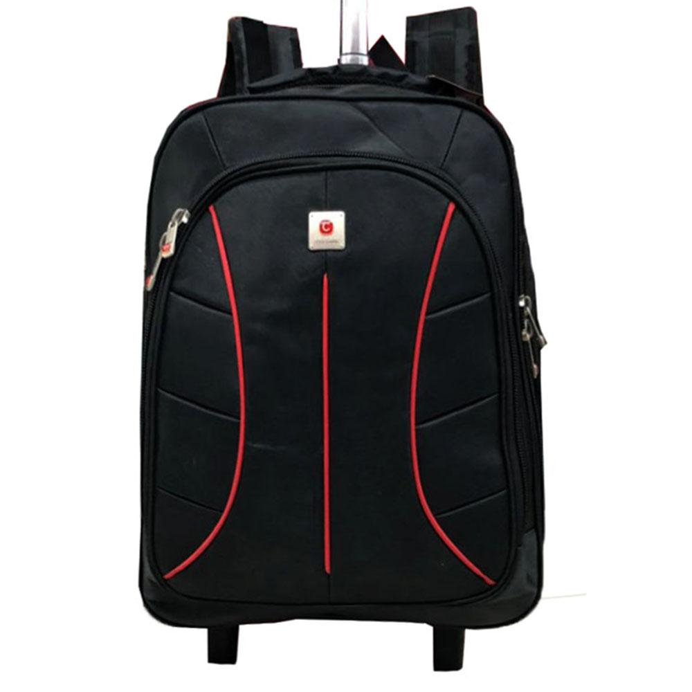 Tas Ransel Pria Backpack Trolley Polo Clasick 1917- 22 Black Tas Ransel Backpack Trolly Travel