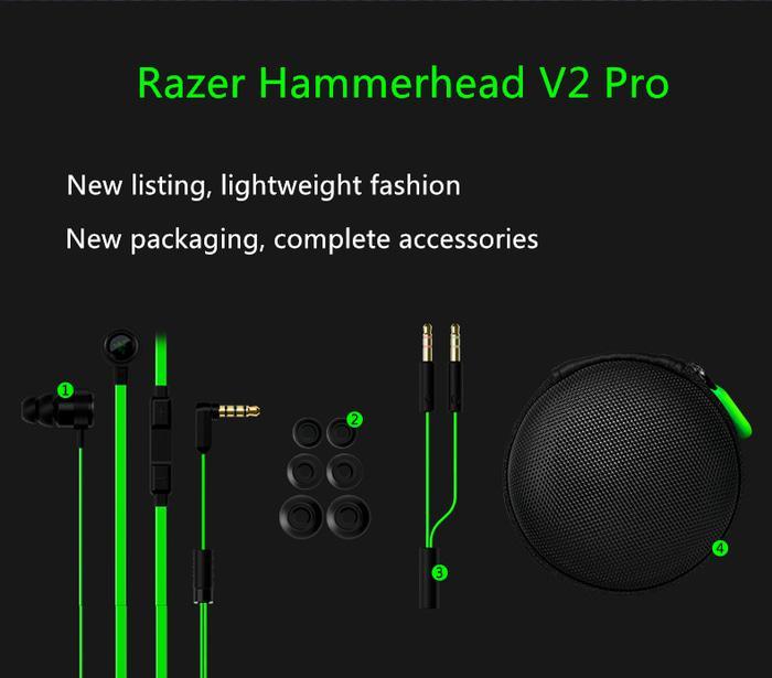 Razer Hammerhead Pro V2 Headset Gaming OEM Quality