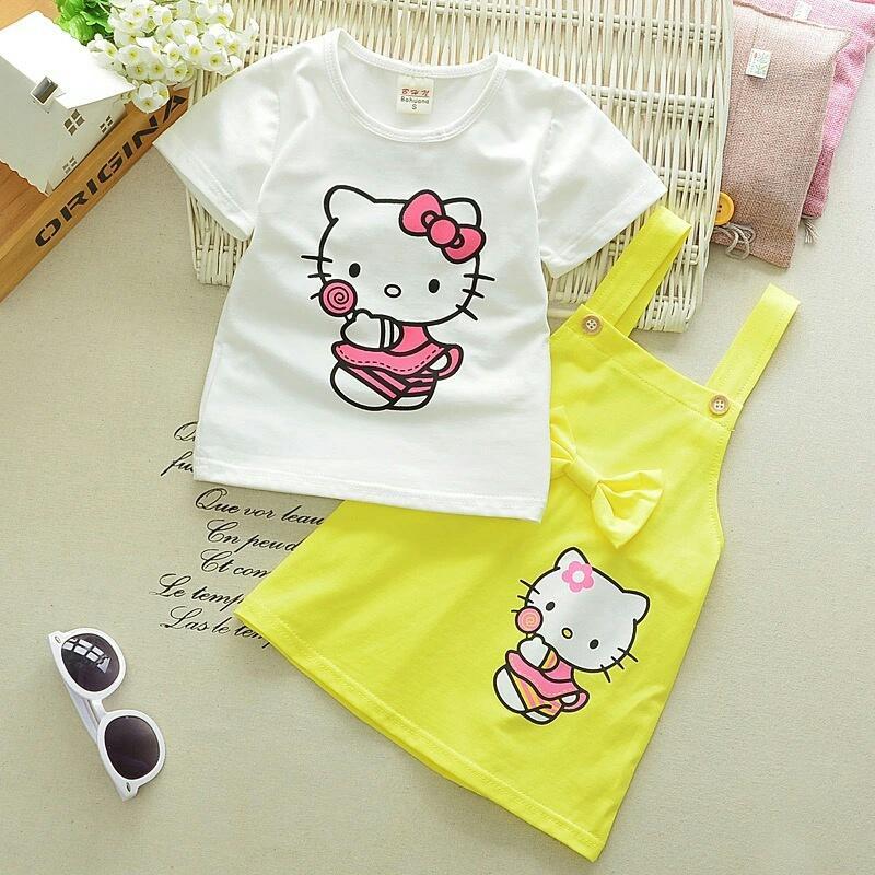 Jakarta Couple - Stelan Anak Lolly Kitty / Baju Setelan Kid /Baju Anak Anak /Baju Kid