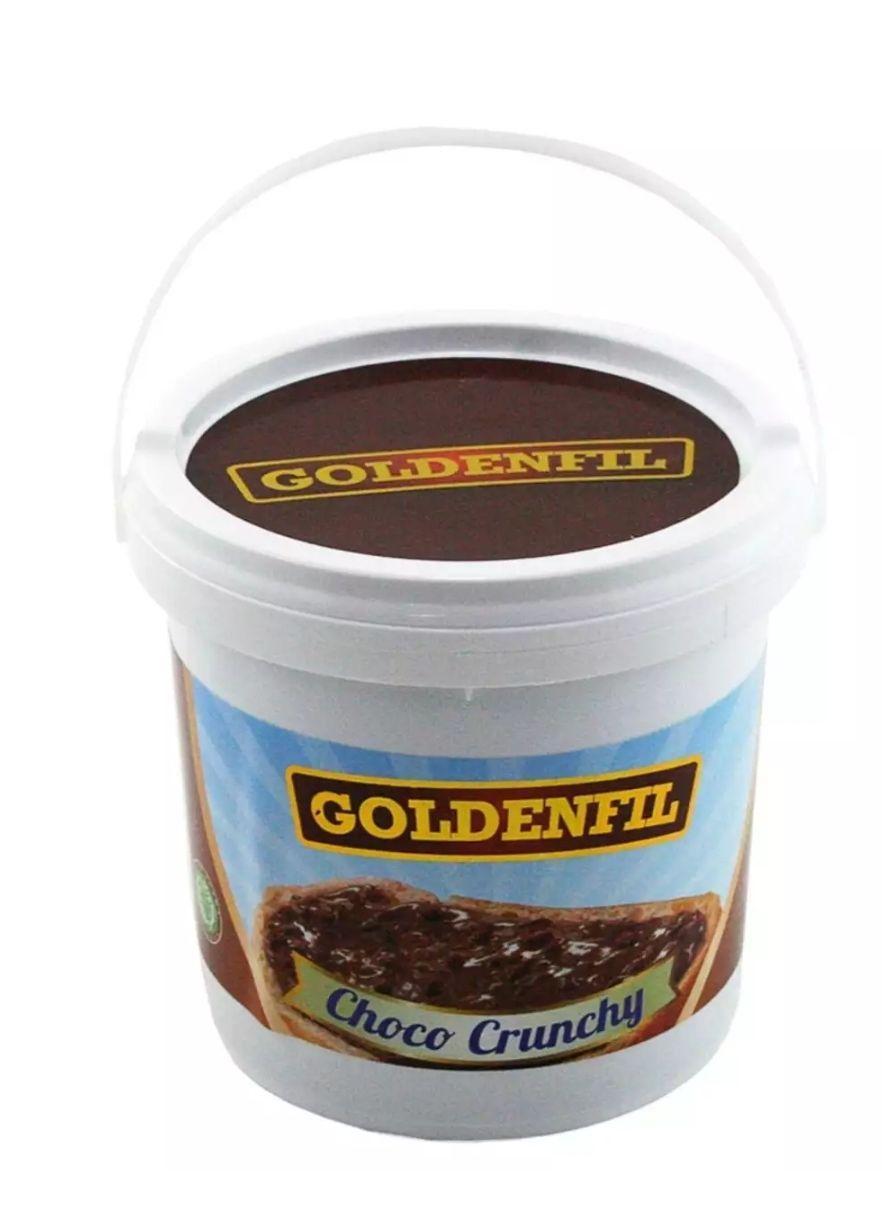 Goldenfil Choco Crunchy 1kg ( selai coklat crunchy) untuk roti dan kue