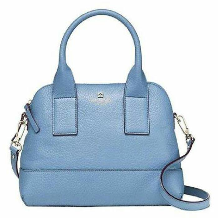 Tas Kate Spade Morning Glory Blue Leather NWT Authentic