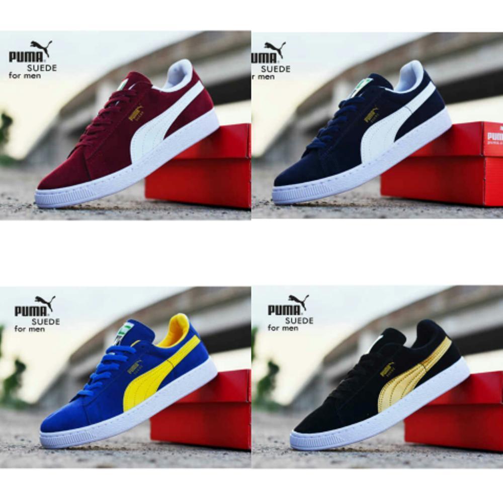 Promo sepatu sneakers puma classic suede pria laki laki casual santai kuliah / competitor . .  Diskon