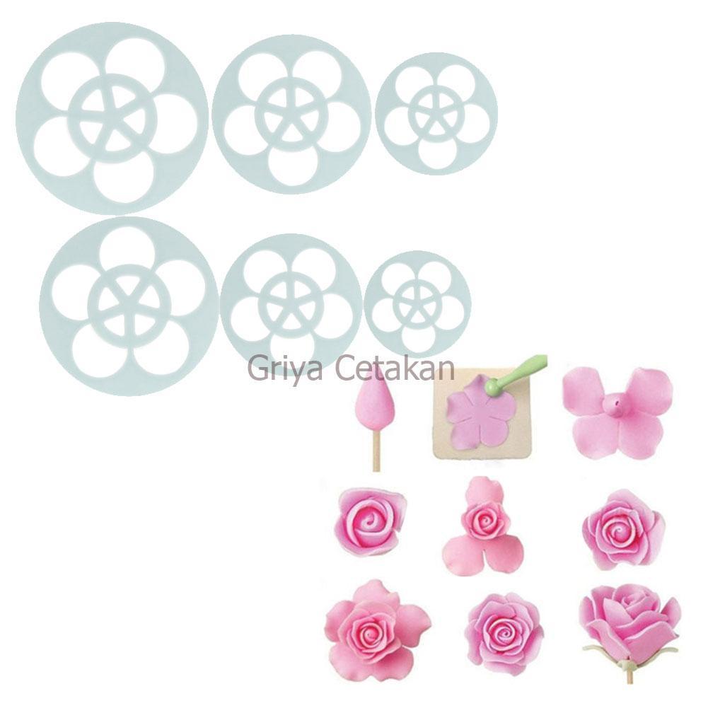 Griya Cetakan Alat Hias Kue - Rose Petal Cutter Set of 11 Pcs