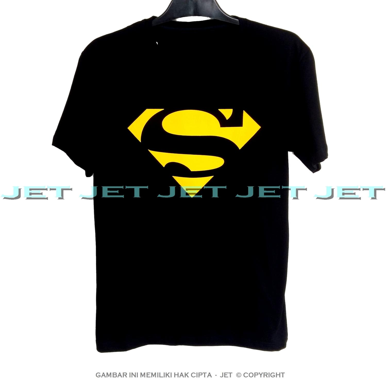 JET - SUPERMAN 100% Soft Cotton Combed 30s Kaos Distro Fashion T-Shirt  Atasan 963566372e