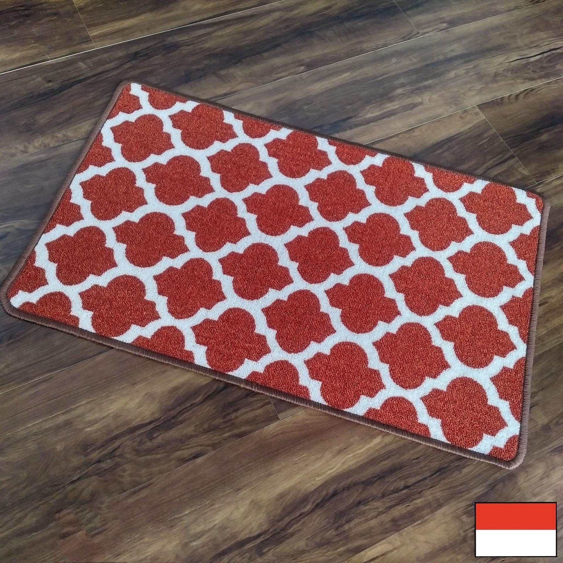 Tren-D-rugs - Keset Kamar Tidur / Keset Dapur / Kamar Mandi dengan Gel Backing Printed 50 cm x 80 cm - New Collection Geometric -  NMs