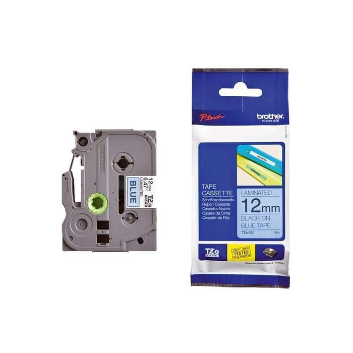 ASLI IMPORT - Brother Label Tape TZE-531 Black On Blue