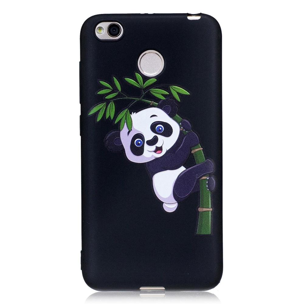 untuk Xiaomi Redmi 4X Matte Embossed Pola TPU Back Protective Phone Case- Panda dan Bambu