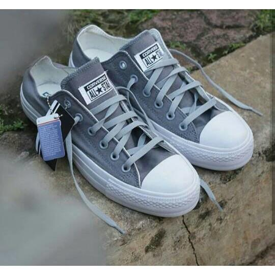 Sepatu Converse Ct Pendek  Converse Ct Low Top Grey / Abu - Abu - Kj7ahn