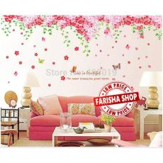 Wall sticker Cherry Blossom Flower AY239AB , XY1095 ( 2 pcs x 90x60) Stiker Dinding