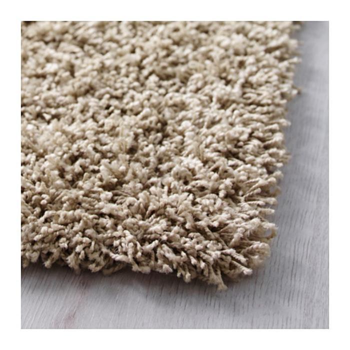 IKEA HAMPEN Karpet tebal, krem 80x80 cm