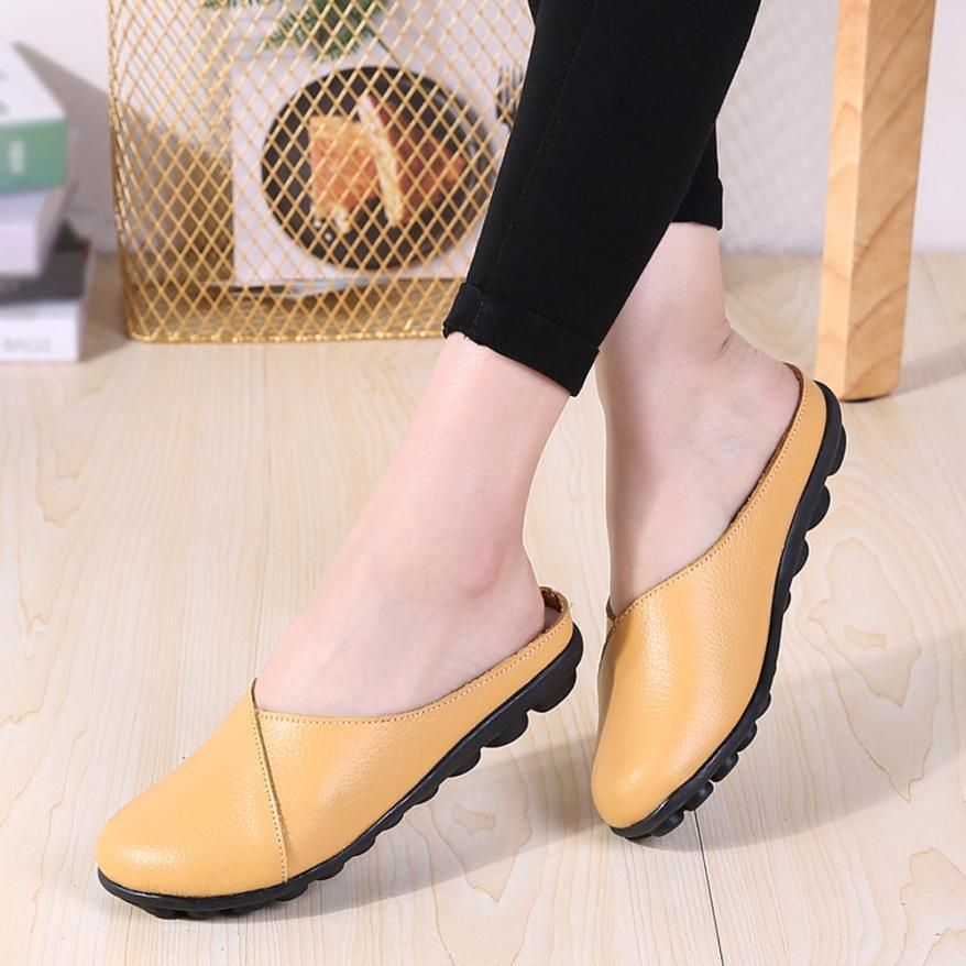 c27e48f21a37 2018 Women s Flats Pure Color Soft Bottom Shoes Soft Slip-On Casual Boat  Shoes tenis