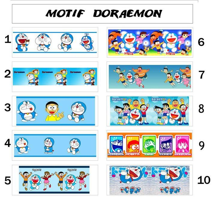 zidane Wall Border/Border Sticker/List Dinding Pj 8M Lebar 15cm( Doraemon)