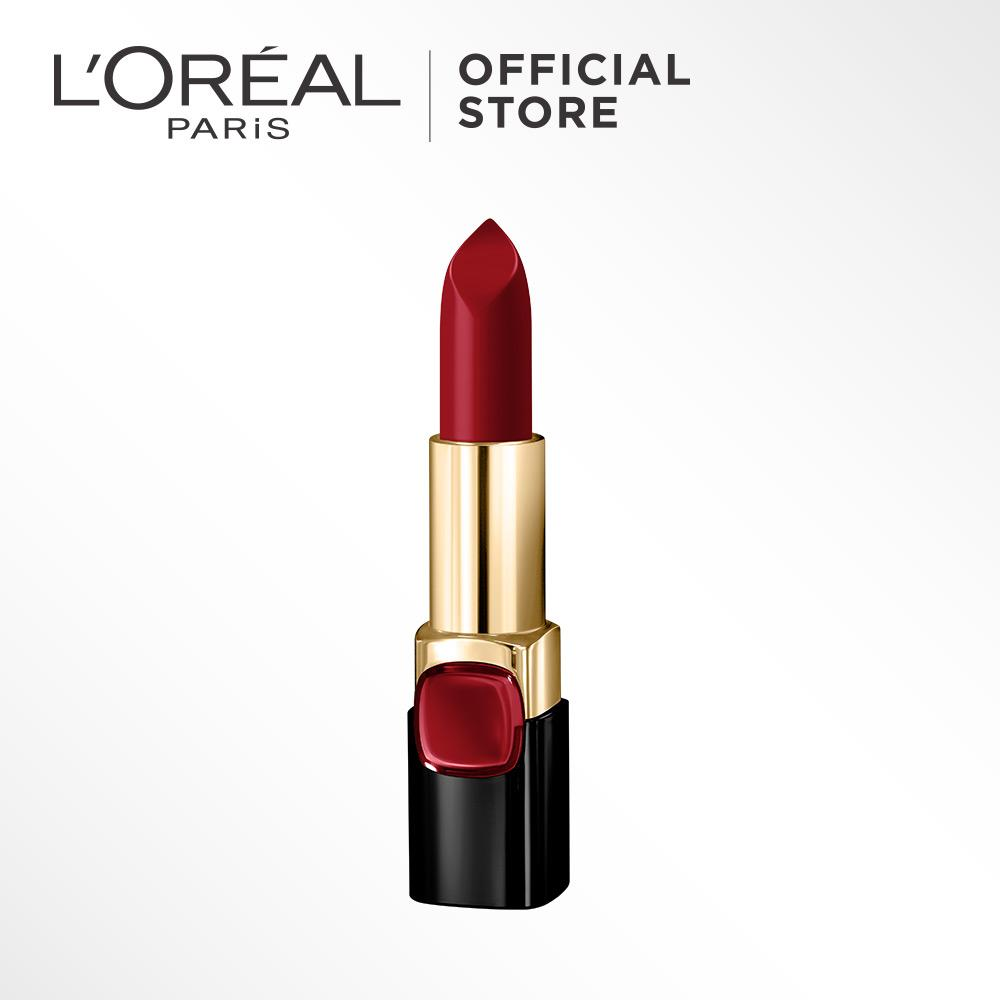 L'Oreal Paris Color Riche Star Red Lipstick - Pure Rouge CSR7 by L'Oreal Paris Makeup |  Loreal Merah Creamy Matte  Pigmented