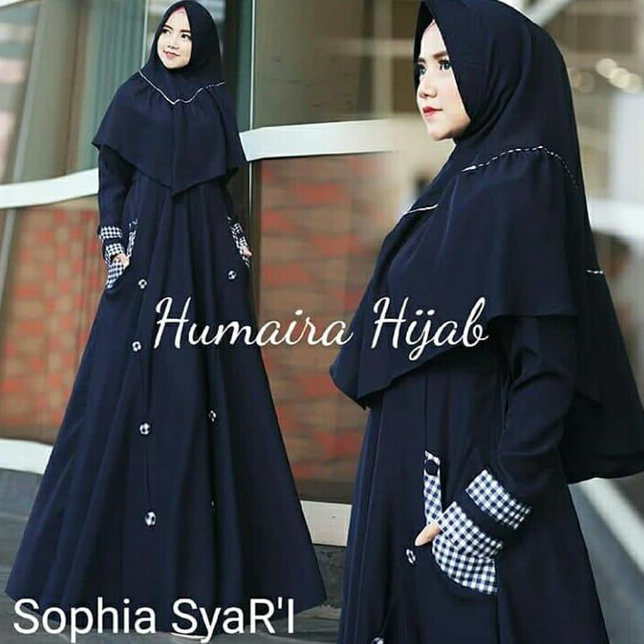 HIJAB INSTAN MURAH / Shopia Syari Navy / DRESS MASA KINI / LONG DRESS / VANILLA HIJAB