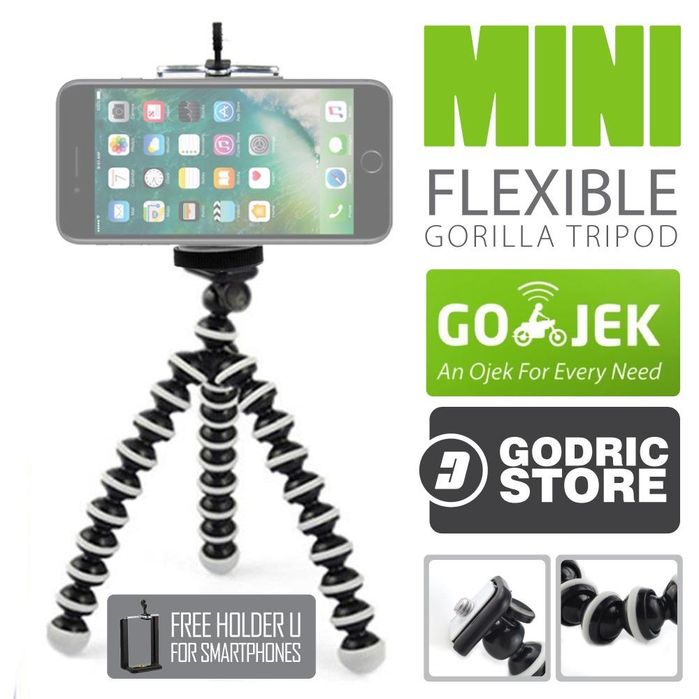 Octopus Gorilla Mini Tripod With Universal Holder U For Smartphones / HP