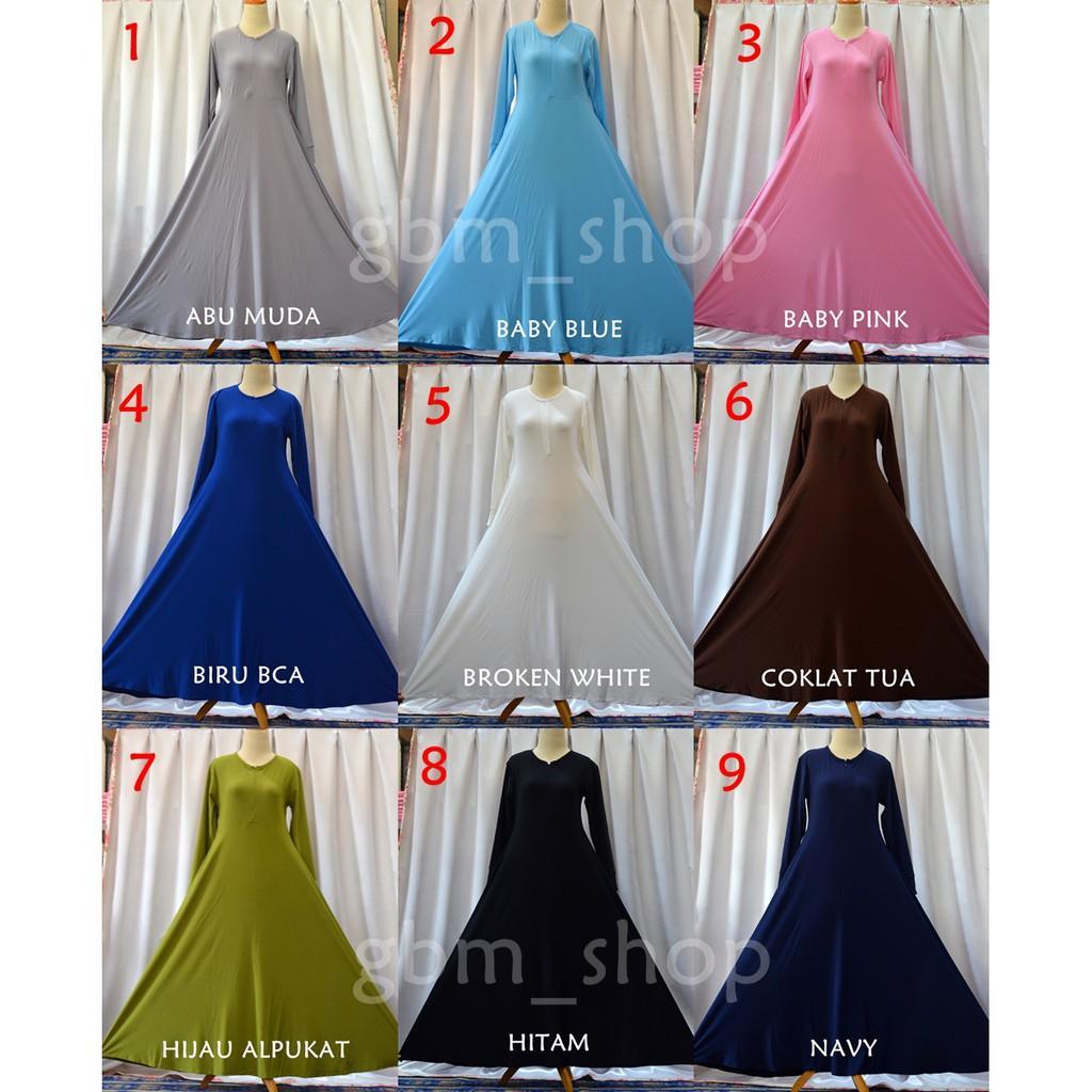 gbm_shop L3/XXL Gamis Polos Jersey / Baju Muslim / Gamis Jersey Ready 34 Warna Hijau Muda L3
