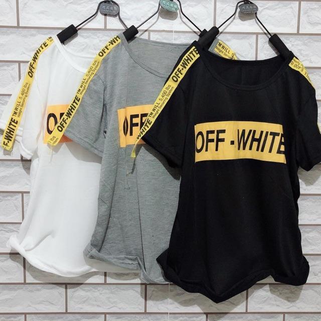 Damai fashion jakarta - baju atasan tshirt OFF SYLVIA 3 warna - KONVEKSI TANAH ABANG
