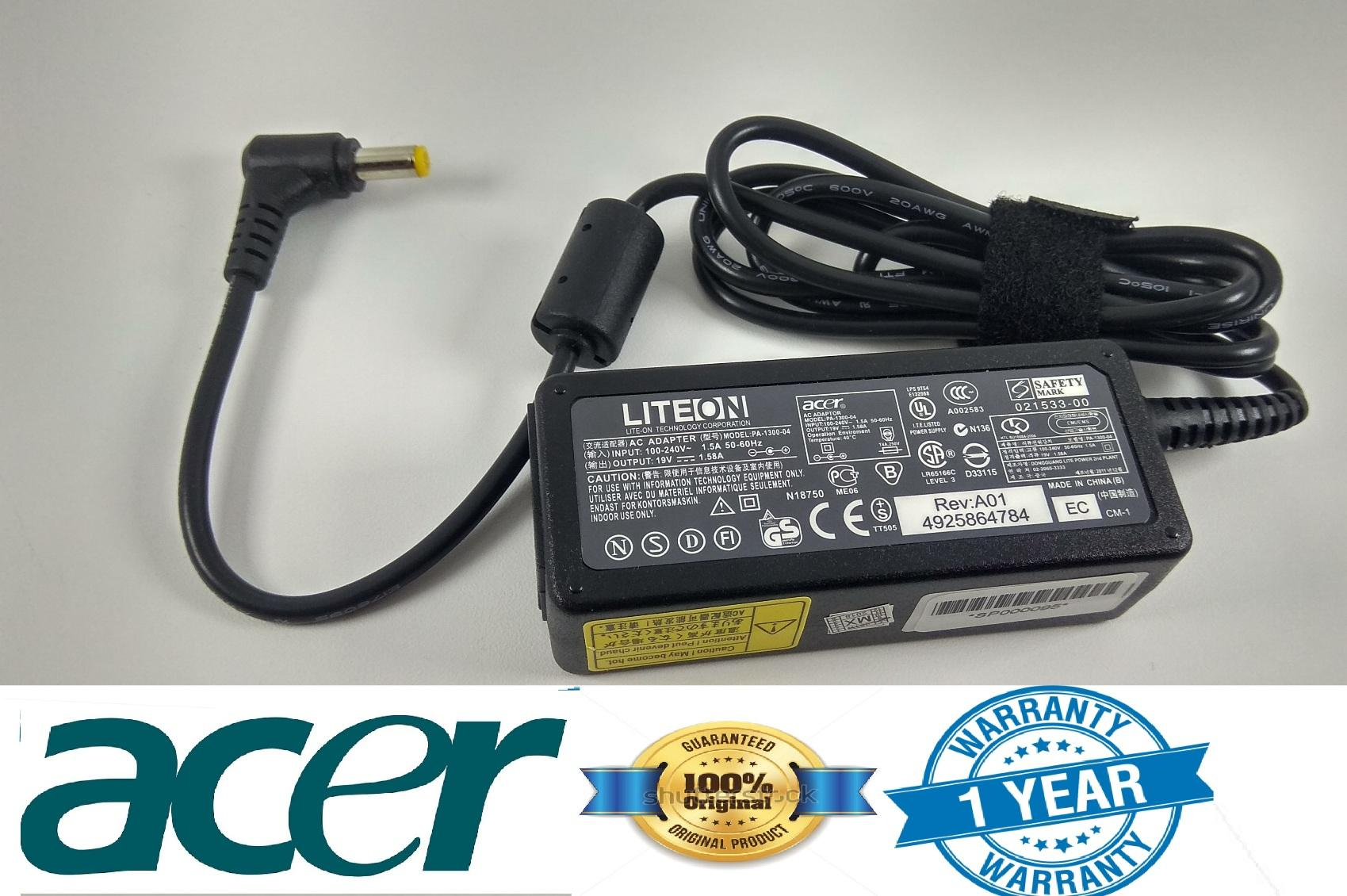 Acer Adaptor Original Notebook Aspire 19V - 1.58A A110L A150L , A150X (5.5mm*1.7mm) SPECIAL