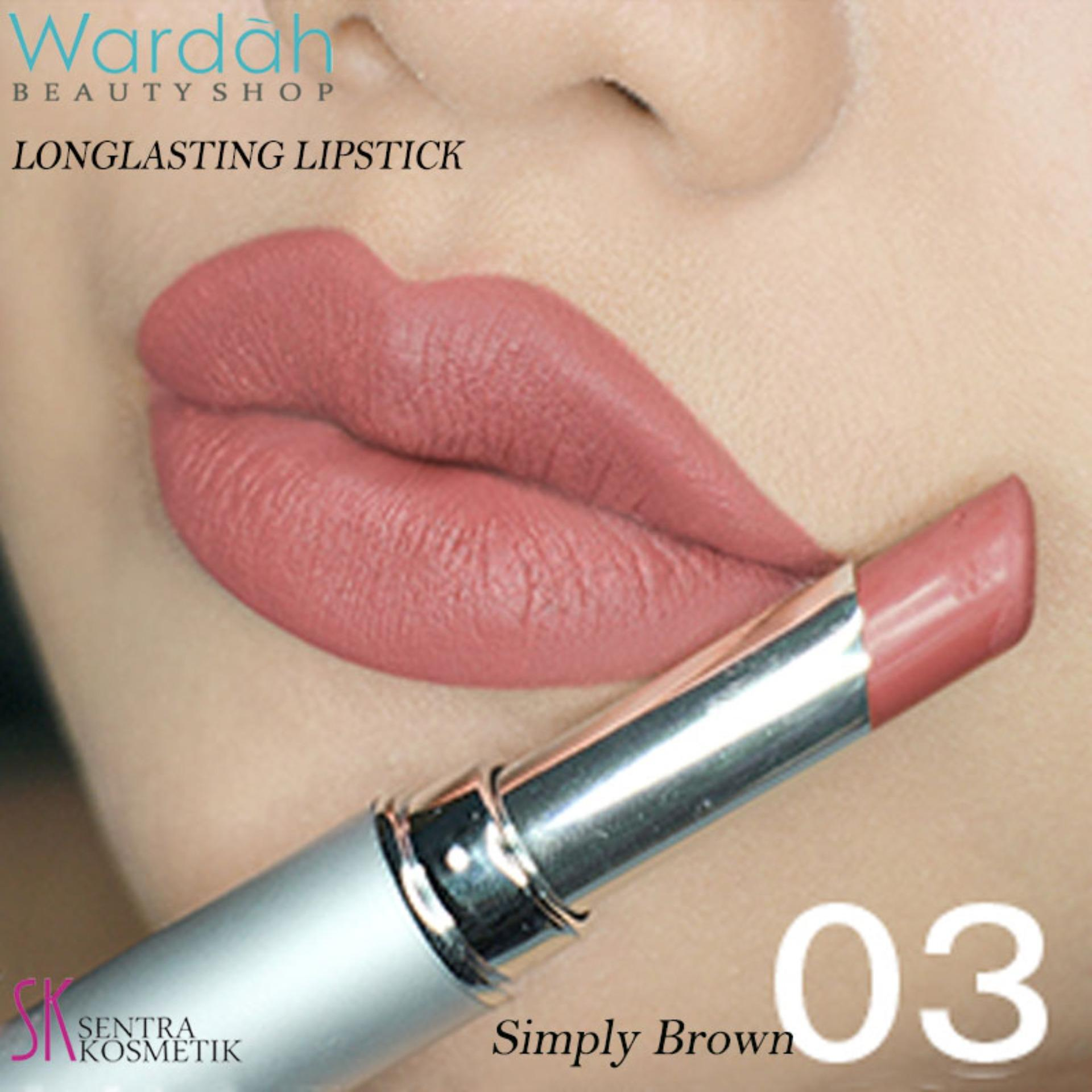 Wardah LONGLASTING Lipstick No.03 Simply Brown