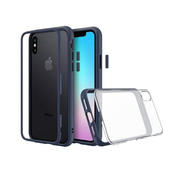 ( Free Ongkir ) Rhinoshield Mod Case Iphone X - Dark Blue Original *Shope*