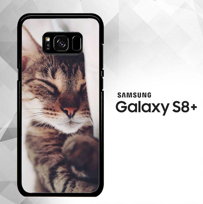 Cat Sleeping Beauty Q0023 Samsung Galaxy S8 Plus