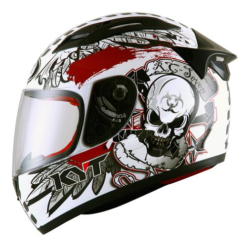 KYT RC7 #13 White Black Red