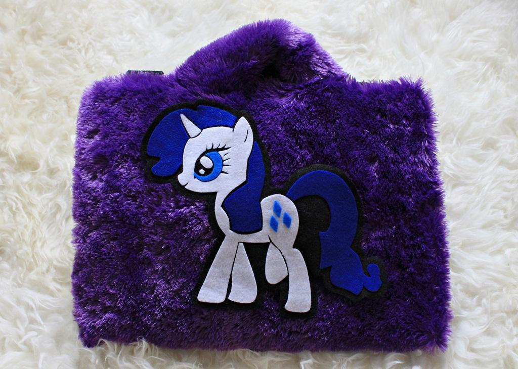 Little Pony Ungu 13 -14 Inch Rasfur Bulu Lebat Softcase Tas Laptop Notebook Macbook Netbook