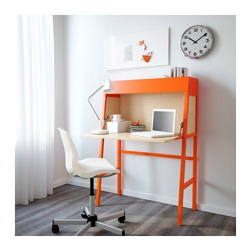 IKEA PS 2014 Meja Belajar / Meja Kerja- Daun Meja Bisa Dilipat- Oranye NEW