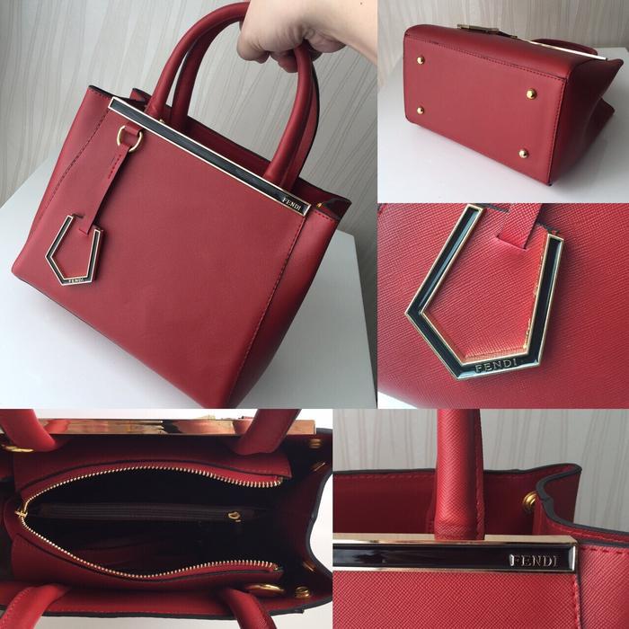 Tas Wanita Fendi Jours Premium Quality Red (Fendi Merah) - ojc4Mi
